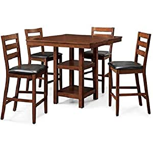5 piece dalton park counter height dining set for Dining room tables on amazon