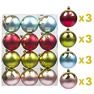 KI Store Christmas Tree Decorations Decorative Ball Ornaments Hanging Decor 2