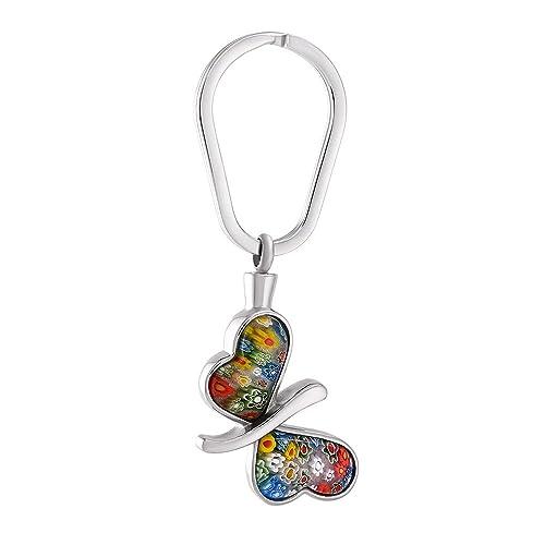 Amazon.com: Millefiori vidrio Mariposa joyas de recuerdo de ...