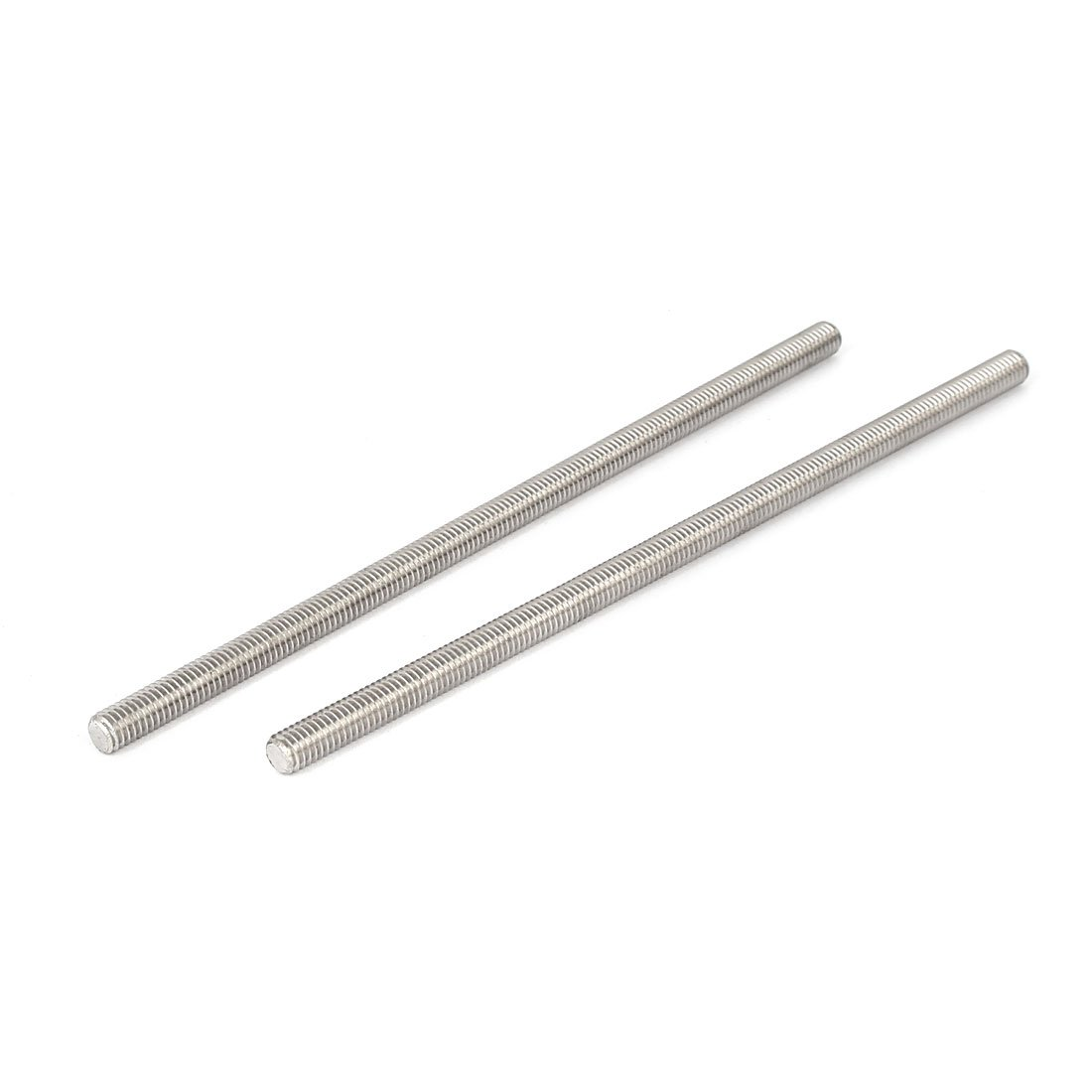 uxcell M6 x 150mm 304 Stainless Steel Fully Threaded Rod Bar Studs Hardware 5 Pcs