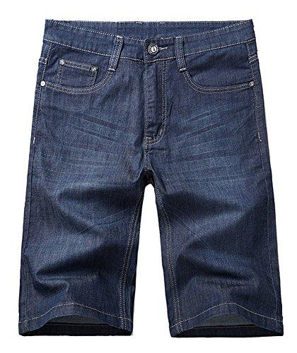 Allonly Men's Fashion Casual Relaxed Fit Stretch Denim Jean Short Plus Size Big And Tall Dark Blue US 44 Tag 46  (Big And Tall Relaxed Fit Shorts)