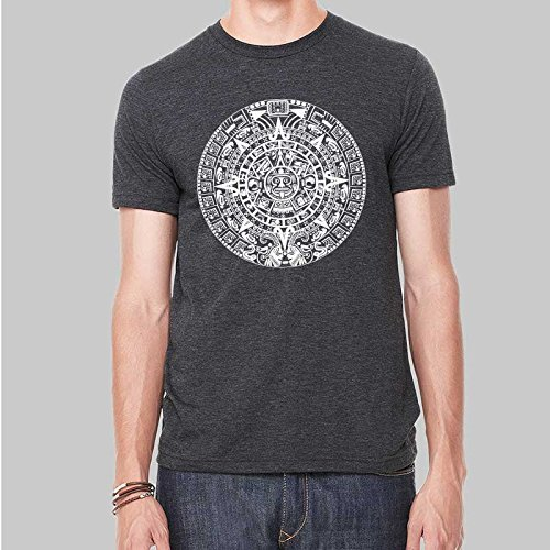 Mens Mayan Calendar Tshirt Graphic Screen Print Tee 5 Colors (T-shirts Calendar Print)