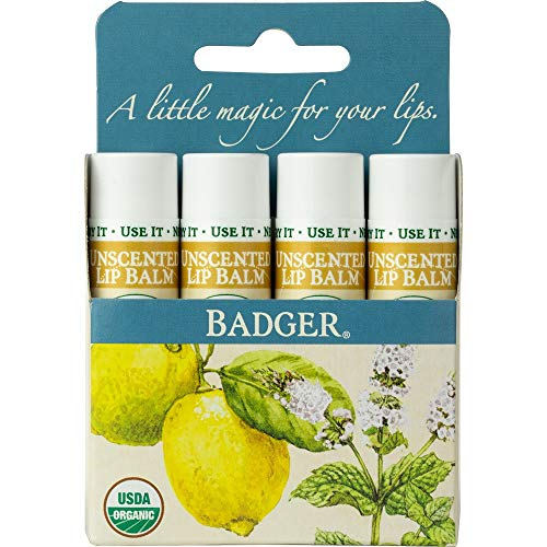 Badger Classic Organic Unscented Lip Balm ()