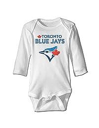 Baby Boys' 2016 Playoff Toronto Blue Jays Logo Romper Jumpsuit Bodysuit Outfits