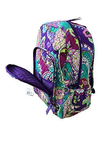 Vera Bradley Campus Backpack (Heather with Purple Interiors)