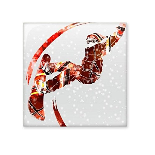 Winter Sport Skateboard Watercolor Skiing Female Athletes Illustration Ceramic Bisque Tiles for Decorating Bathroom Decor Kitchen Ceramic Tiles Wall Tiles 30%OFF