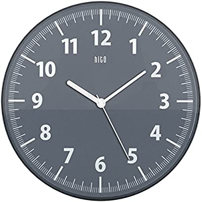 hito Silent Wall Clock Non Ticking 11 inch Excellent Accurate Sweep Movement Clear Frame, Modern Decorative for Kitchen, Living Room, Bathroom, Bedroom, Office (Dark Gray) - hito non ticking wall clock uses superior sweeping movement to guarantee true silence with the smooth second hand, time accuracy and stable performance in its long life. hito sells truly silent clocks. hito tickless quiet wall clock keeps perfect time, a trust-worthy timepiece. hito 11 inch silent wall clock features clear frame and cover: You can read time from the sides. And it's more beautiful than you can image, modern decorative for kitchen, living room, bathroom, bedroom and office. hito wall clock brings colors, tranquillity and smiles to your room and family. - wall-clocks, living-room-decor, living-room - 516Qo1hgjKL. SS400  -