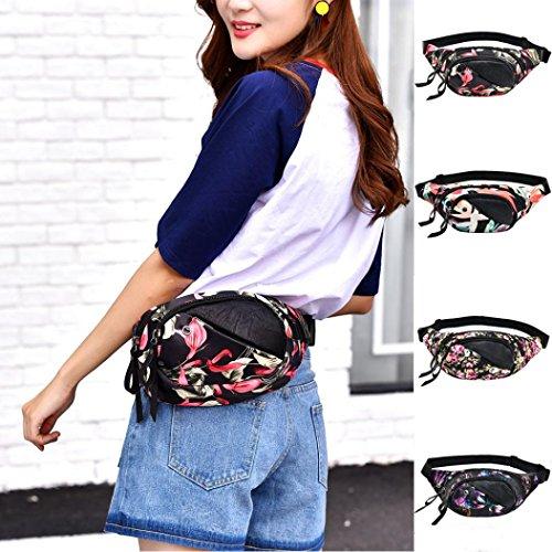VICGREY Cintura Moda Motivo Tasche Borsa Panno Pettorale Borsa Fitness Oxford Palestra Cellulare B Decorativo Femminile Borsa Borsa Bracciale ZZqwOr