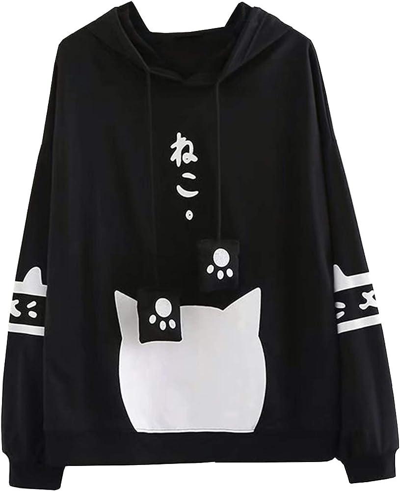 Doballa Mujeres Linda Pata Japonesa con cordón suéter de Orejas de ...