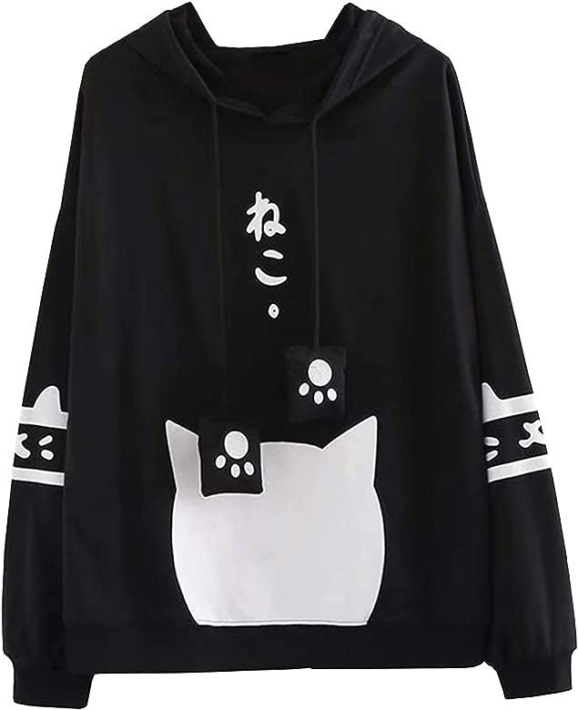 Doballa Mujeres Linda Pata Japonesa con cordón suéter de ...