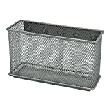 Lzttyee Space Saving Magnetic Sturdy Metal Mesh Paper File/Pencil Holder/Staionery Storage Basket for Whiteboard/Refrigerator/Magnetic Surface (XL)