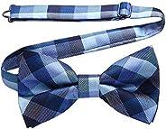 HISDERN Bow Ties For Men - Mens Woven Formal Pre-Tied Bowtie Tuxedo Wedding Bow Tie