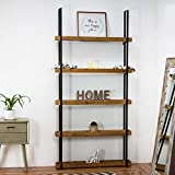 American Art Decor Vintage Farmhouse Wood and Metal Storage Shelf Organizer