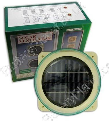 Funciona con energía solar ventilador: Amazon.es: Jardín