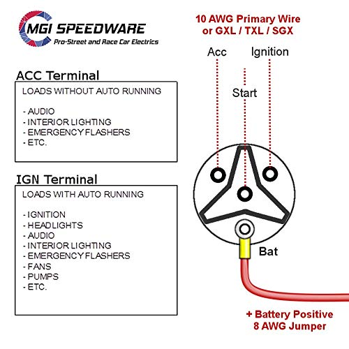 MGI SdWare Universal Ignition Key Switch 12v 4-Position on