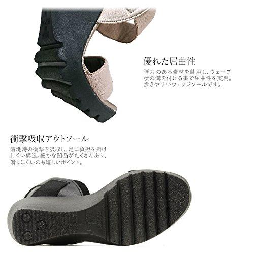 (ファーストコンタクト) FIRST CONTACT 日本製 美脚 ウェッジソール サンダル レディース ヒール 歩きやすい
