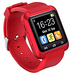 U80 Smart Watch Bluetooth 4.0 For Sports & Health Anti-lost Wrist Wrap Watch Phone Mate For Smartphones Ios Android Apple Iphone 55c5s66 Puls (Red)