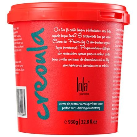 Linha Creoula Lola - Creme de Pentear Cachos Perfeitos 930 Gr - (Lola Afro Collection - Super Perfect Curls Defining Cream Net 32.8 Oz) by Lola