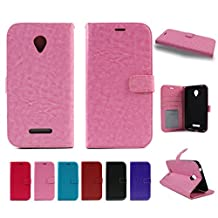 For BLU STUDIO XL D850Q or 6.0 XL D850Q (NOT FOR THE 6.0 HD D650a / D650i / D651U OR 6.0 LTE Y650Q) PREMIUM Flip Wallet Folio Leather Case Cover STAND (Pink)