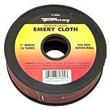 Forney 71804 Emery Cloth, 120-Grit, 1-Inch by 10-Yard Bench Roll
