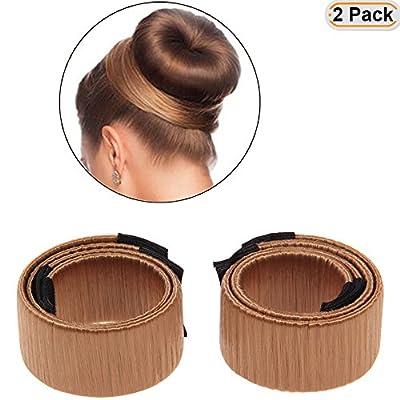 Hisight 2pcs Bun Maker Hair Bun Shapers Hair Styling Maker Hair Accessories Women Girls Donut Hair Bun Maker Magic DIY Curler Roller Hairstyle Tools