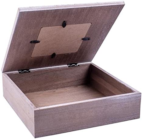 bo/îte Coffret cadeau bois rivanto/® avec cadre photo coeur photo Box bo/îte en bois bo/îte /à bijoux en bois avec motif coeur 20/x 20/x 6/cm bo/îte en bois