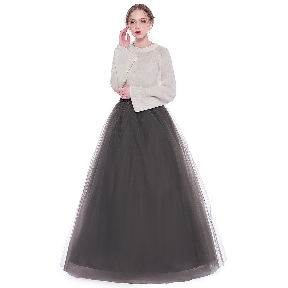 021aa1be7 Floor length tulle skirt, wedding bridal skirt, blush tulle skirt, pure  color tutu long skirt, puffy skirt, for Girls and Ladies * 6 Layers Skirts  (5 Tulle, ...