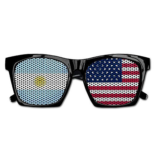 Elephant AN Themed Novelty Flag Of Usa Argentina Decoration Visual Mesh Sunglasses Fun Props Party Favors Gift - Argentina Sunglasses