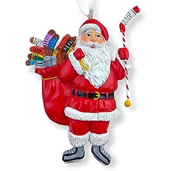 chalktalksports hockey santa resin christmas ornament 4 12 - Hockey Christmas Ornaments