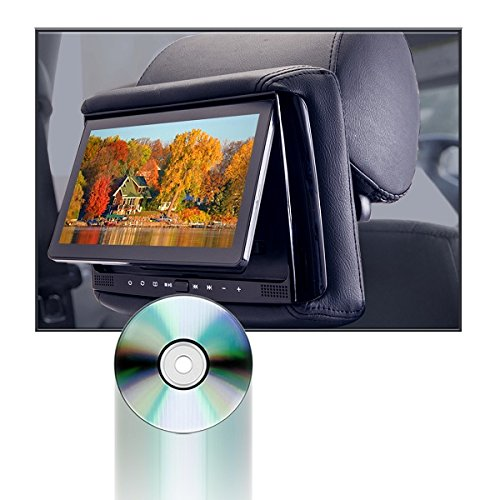 Concept RSD-905 Chameleon 9'' DVD/LCD with 3 Color Covers Active Head Restraint