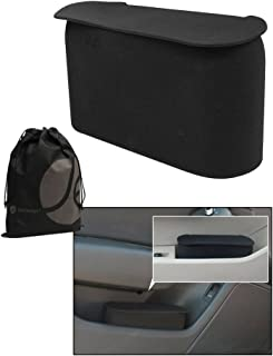 JAVOedge Black Small Car Trash Can With Lid Flexible Material Fits in Most Side  sc 1 st  Amazon.com & Amazon.com: Car Door Clip on Bottle Trash Holder (Black): Automotive