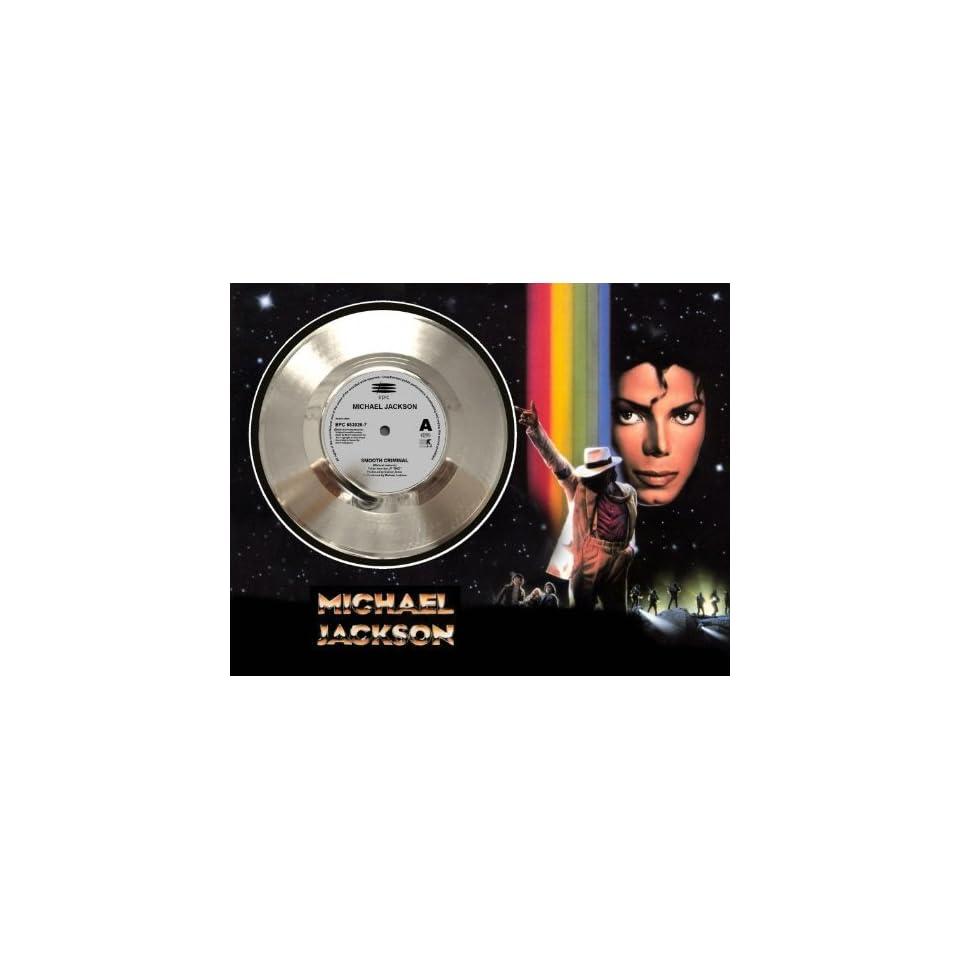 Michael Jackson Smooth Criminal Framed Silver Record A3