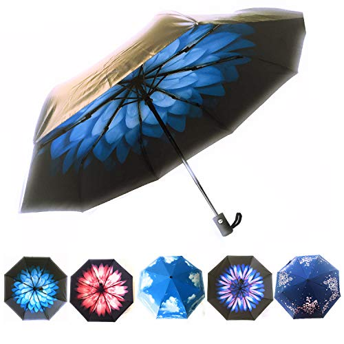 Umbrellas for Women by Hawaiian Sunsets | Small Compact Windproof Travel Umbrella | Sun Protection UPF 50+ Parasol Umbrella | Do Not Limit Yourself to a Black Umbrella - Available -