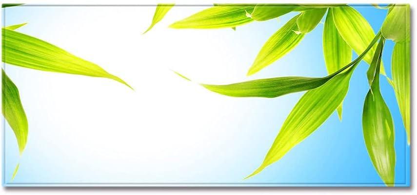 SHJI Kitchen Runnermodern Runner Rug for Entryway Green Leaf Rectangular Non-Slip Floor Rug Washable Runner Rug for Kitchen Bedroom Home Decorative,50X80Cm (20X31.5 Inch)