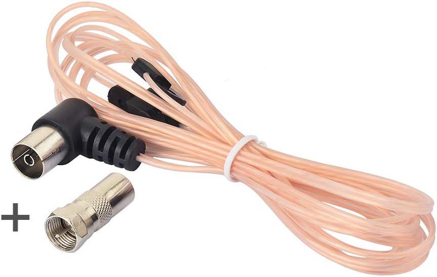 Typ F FM MD Antenne Wurfantenne Radio Anschluss 75Ohm Zimmerantenne F-Stecker