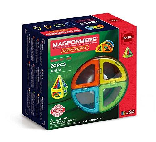Magformers Curve (20-Pieces) Building      Set Rainbow Colors Magnetic    Building      Blocks, Educational  Magnetic    Tiles Kit , Magnetic    Construction  STEM Toy Set