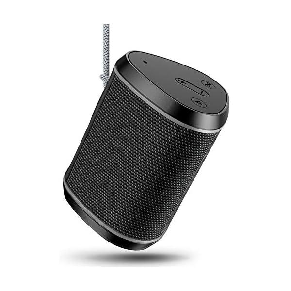 Cocoda Enceinte Bluetooth Portable, Mini Haut Parleur Sans Fil avec Sonore Stéréo, Basses Puissantes, Technologie TWS, Portée Bluetooth 18M, Support AUX/Carte TF, Étanche IPX6 Enceintes pour Extérieur 1