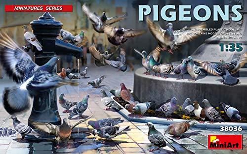 MINIART 38036 1/35 Pigeons Plastic Accessory 12 Figures of Birds 1