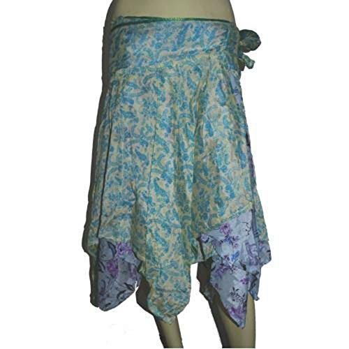 Diamante de corte reversibles falda envoltura de la falda del vestido Tubo mágico Pareo Maxi Faldas brillantes y ligeros matices. sombras de luz