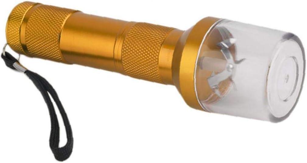 Humo El/éctrica Forma Grinder a Base De Plantas De Especias Trituradora De La Linterna De Aleaci/ón De Aluminio Creativo Miller para Los Amantes del Tabaco