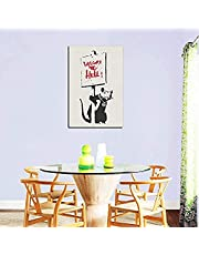 Banksy Graffiti Canvas Art Prints Street Art Welcome to Hell Poster Home Decor Painting Wall Printing Home Decor