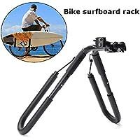 Move By Bike Adjustable Black Aluminum Surfboard Rack Bicycle Surfboard