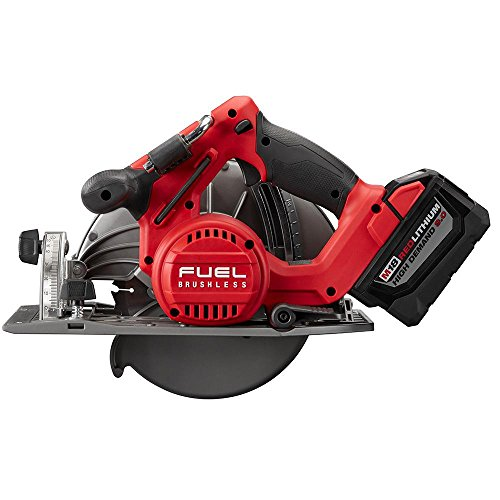 Milwaukee M18 FUEL 18-Volt Lithium Ion Brushless Cordless 7 1/4 in. Circular Saw with M18 18-Volt 9.0Ah Starter Kit   Modern Hardware Power Tools for Your Carpentry Workshop or Machine Shop by Milwaukee (Image #8)
