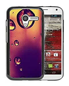 New Beautiful Custom Designed Cover Case For Motorola Moto X With Water Drop On Dusky Glass Phone Case