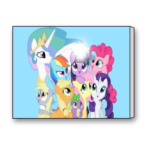 Little Pony Cartoon Photo Picture Print On Framed Canvas Walla Art Home Decor