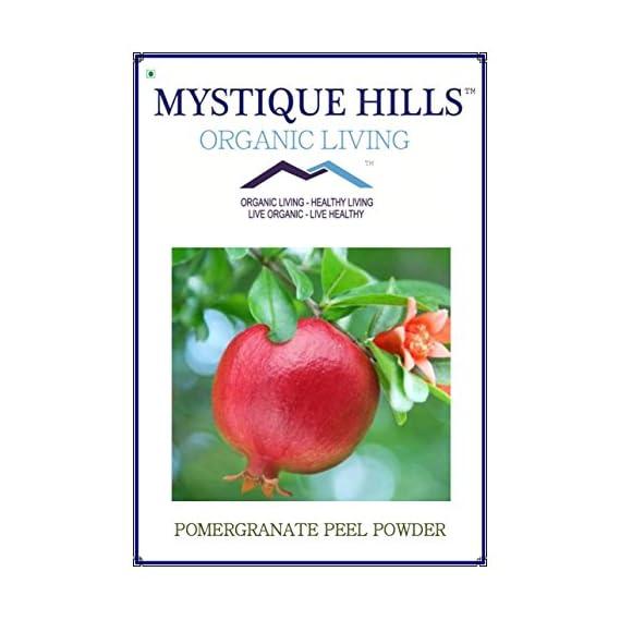 Mystique Hills - Organic Living Pomegranate Peel Powder -100 G