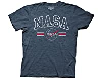 Ripple Junction NASA Collegiate Letters & Logo Adult T-Shirt