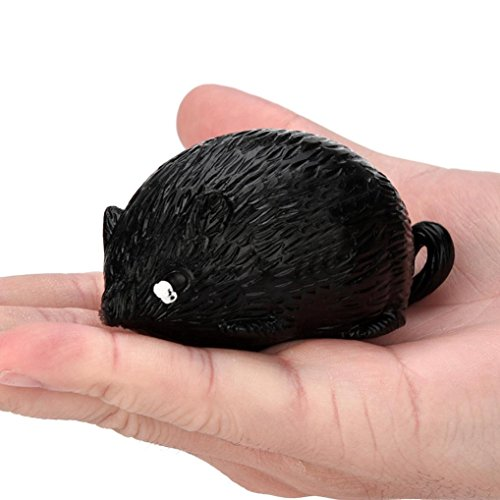 70%OFF SANNYSIS 7cm Mouse Jumbo Squishies Slow Rising Squishies Cheap Stress Reliever Toy for Kid Adults Mini Slow Rising Squishies Keychain Phone Case (Black)