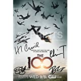 The 100 Poster Photo 12x8 Signed PP by 5 cast Eliza Taylor, Bob Morley, Marie Avgeropoulos, Devon Bostick, Henry Ian Cusick, Autograph Print The One Hundred by 5 Star Prints