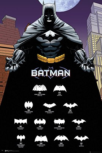 Batman - DC Comics Poster / Print (The Evolution Of The Bat-Logo) (Size: 24